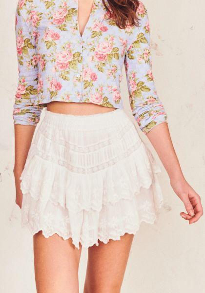 Emilia Skirt White