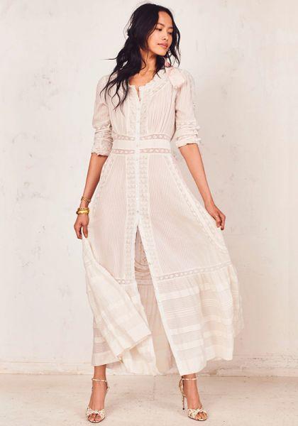 LoveShackFancy Selma Dress Antique White