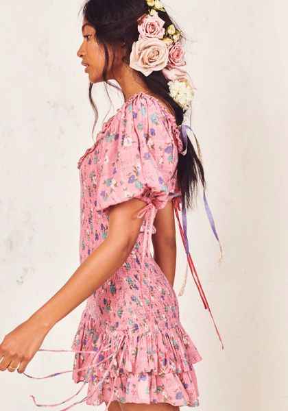 LoveShackFancy Violet Dress Pink