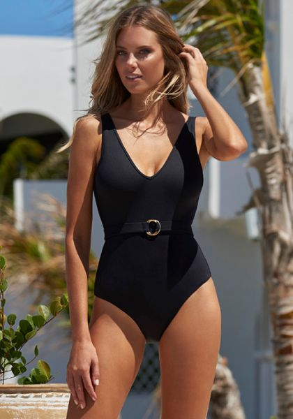 Melissa Odabash Belize Swimsuit Black