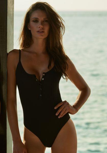 Melissa Odabash Calabasas Swimsuit Black