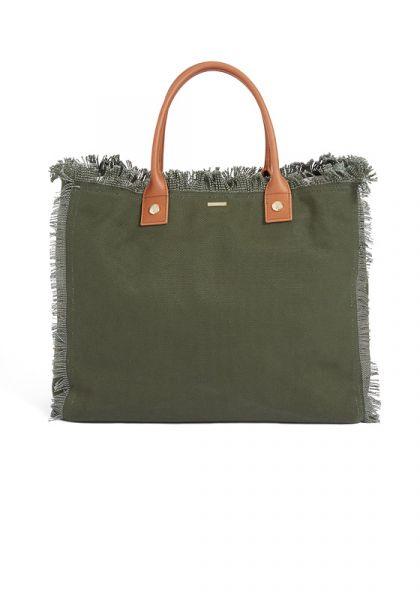 Melissa Odabash Cap Ferrat Bag Olive/Tan