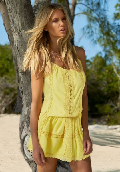 Melissa Odabash Chelsea DRess Lemon