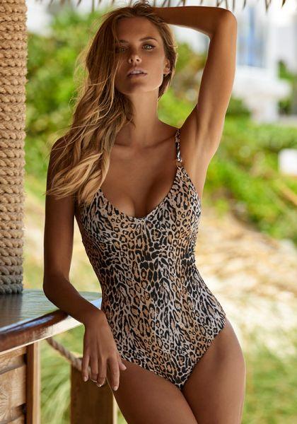 Melissa Odabash Cyprus Swimsuit Cheetah