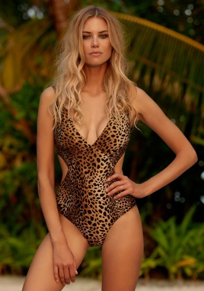 Melissa Odabash Del Mar Swimsuit Cheetah