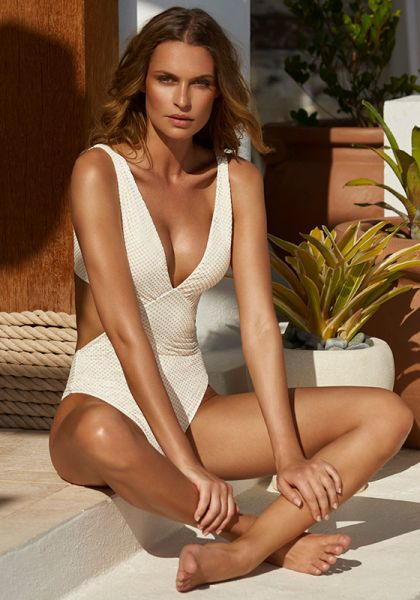 Melissa Odabash Del Mar Swimsuit Hexagon