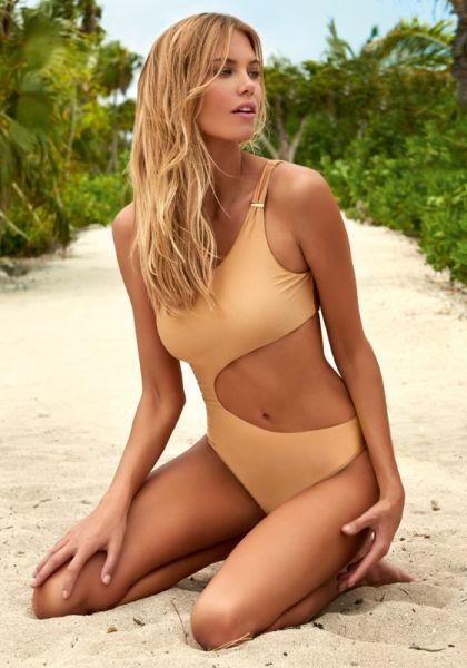 Melissa Odabash Florence Swimsuit Gold