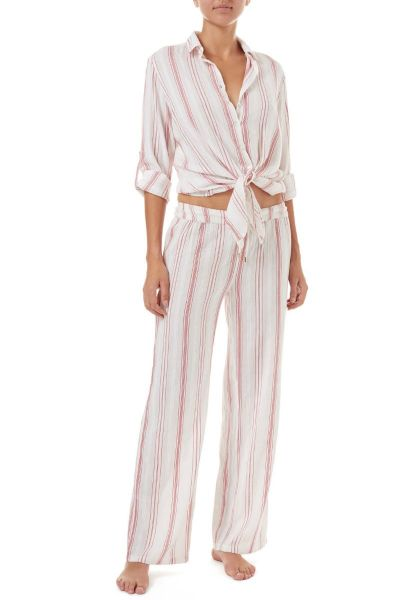 Melissa Odabash Krissy Red Stripe Pants