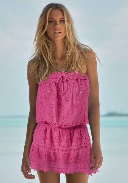Melissa Odabash Iris Dress Flamingo