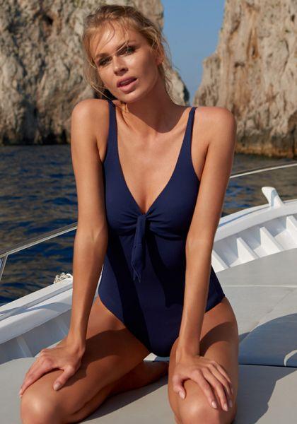 Lisbon Swimsuit Navy Pique
