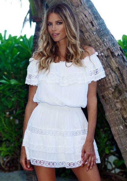 Melissa Odabash Melody Dress White