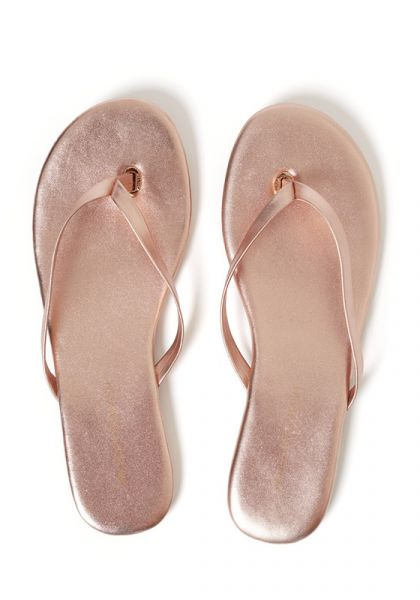 Melissa Odabash Rose Gold Sandals