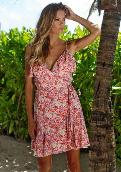 Melissa Odabash Simona Dress Ditsy Pink