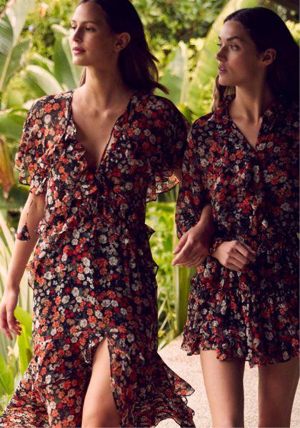 Misa Los Angeles Marion Skirt Safari Floral