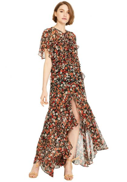 Misa Los Angeles Katarina Dress Safari Floral