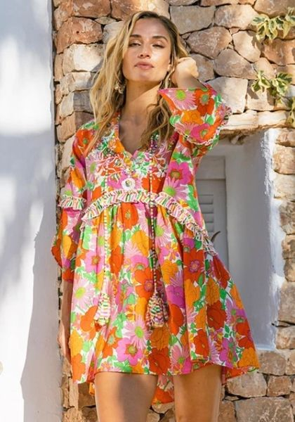 Miss June Abba Dress Neon