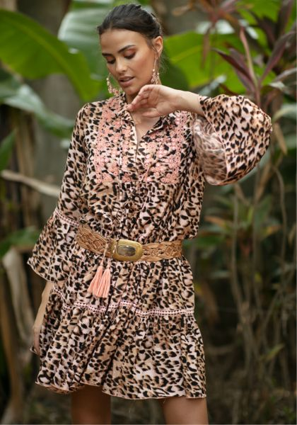 Miss June Bangala Dress Jungle Peach