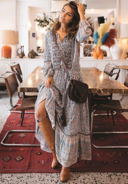 Miss June Harlow Dress Blue