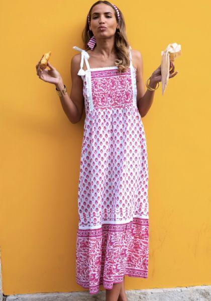 Pink City Prints Elena Dress Strawberry Fields
