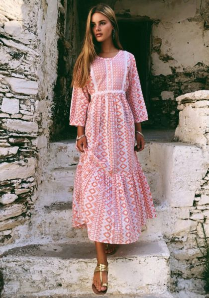 Pink City Prints Nomad Dress Peach