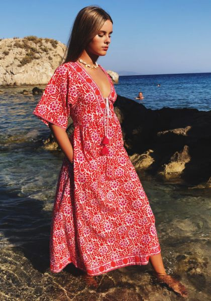 Pink City Prints Paros Beach Dress Dusty Mexican