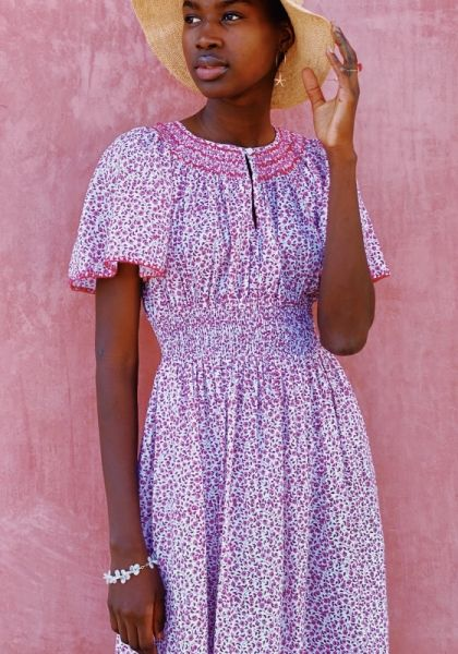 Pink City Prints Tamsin Dress Lavender Ditsy