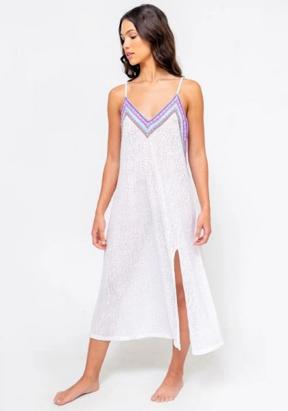 Inca Slip Dress White