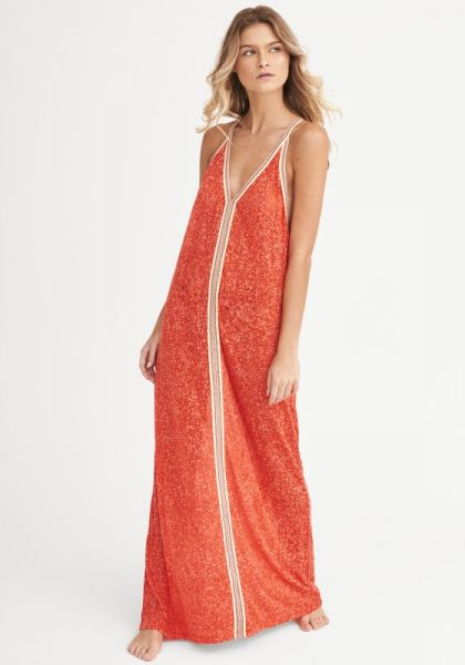 Pitusa Inca Sun Dress Strawberry