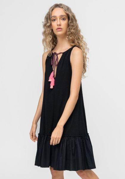 Pitusa Tassle Tie Dress Black