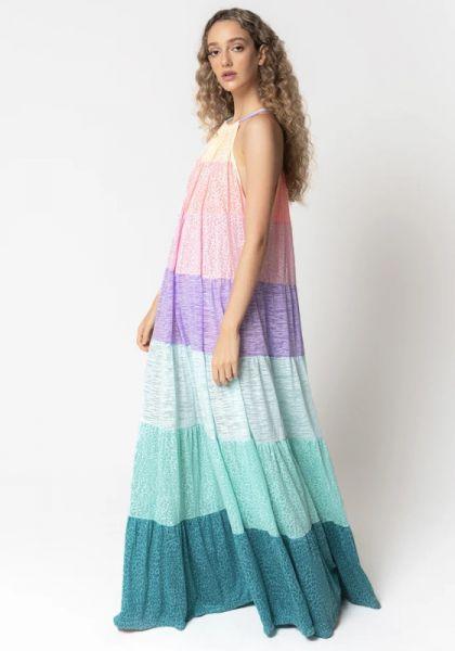 Popsicle Halter Dress Pastel Rainbow