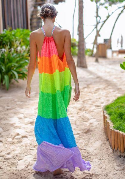 Pitusa Popsicle Halter Dress Rainbow