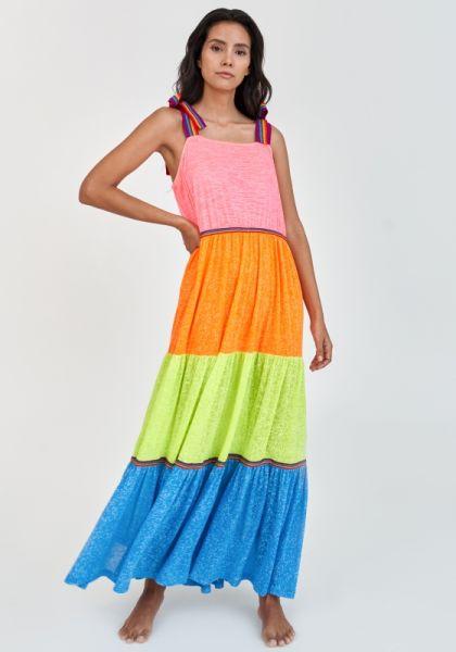 Rainbow Bow Tie Strap Dress