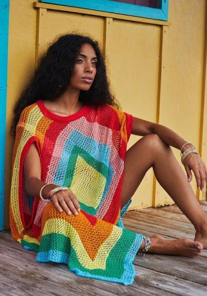 Rainbow Crochet Coverup