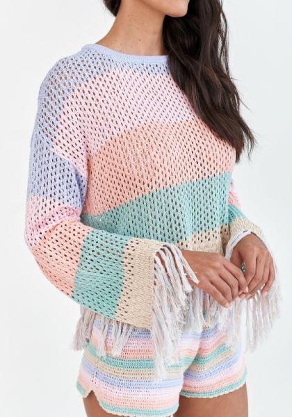 Rainbow Crochet Shorts Pastel