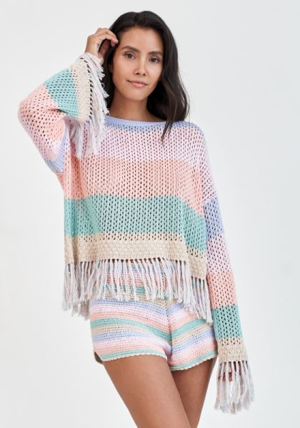 Rainbow Crochet Top