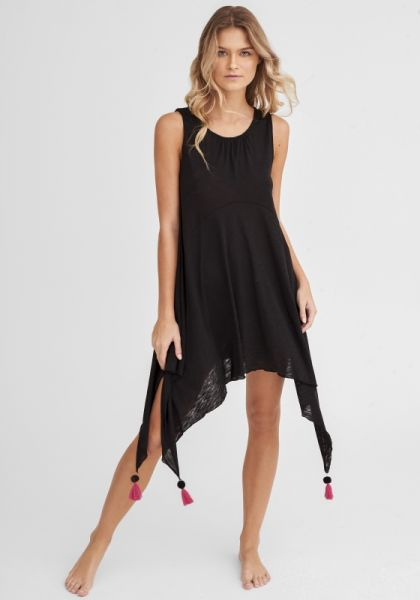 Tassel Tank Dress Black