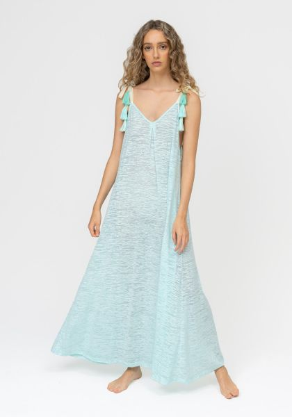 Pitusa Tassle Tie Dress Aqua