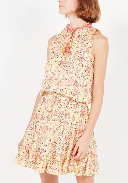 Poupette St Barth Mini Clara Dress Yellow Malva