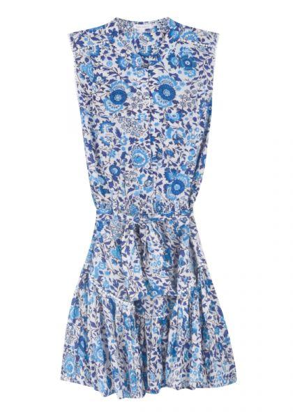 Felicia Sleeveless Dress Blue Celery