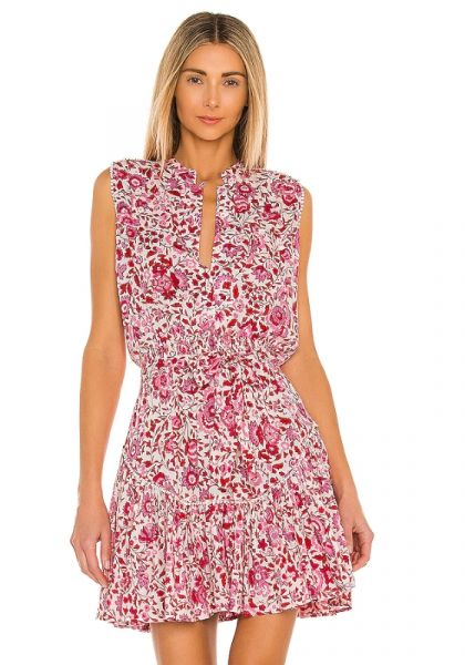 Poupette St Barth Felicia Dress Red Celery