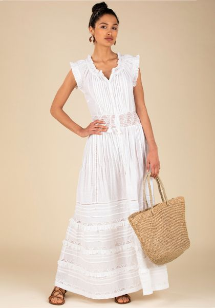 Poupette St Barth Long Galia Dress White