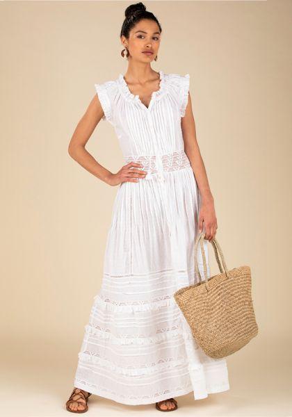 Poupette St Barth Long Galia Dress White