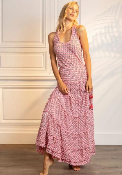 Long Kate Dress Pink Retro