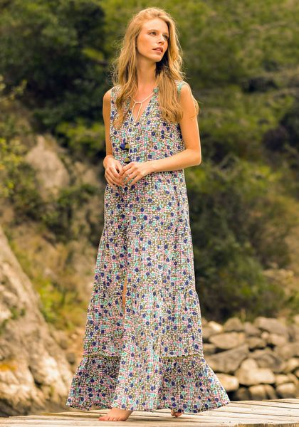 Poupette St Barth Long Clara Dress