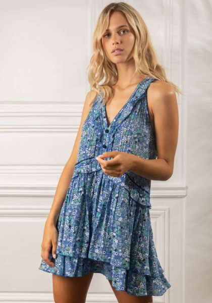 Poupette St Barth Mae Dress Blue Malva