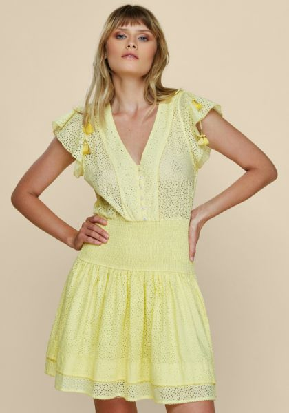 Poupette St Barth Rachel Mini Dress Yellow