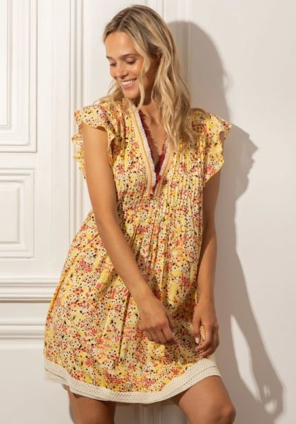 Poupette St Barth Sasha Dress Yellow Malva