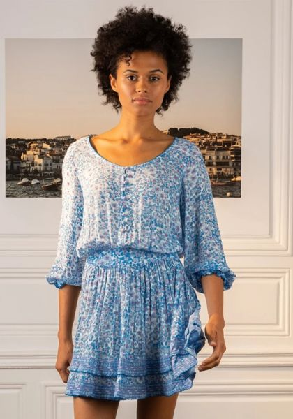 Selena Dress Blue Hortensia