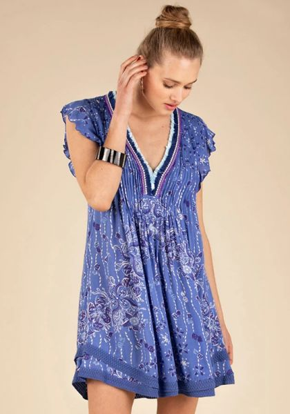 Mini Sasha Lace Dress Blue Pineapple