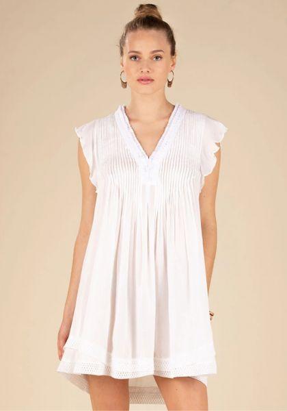 Mini Sasha Lace Dress White